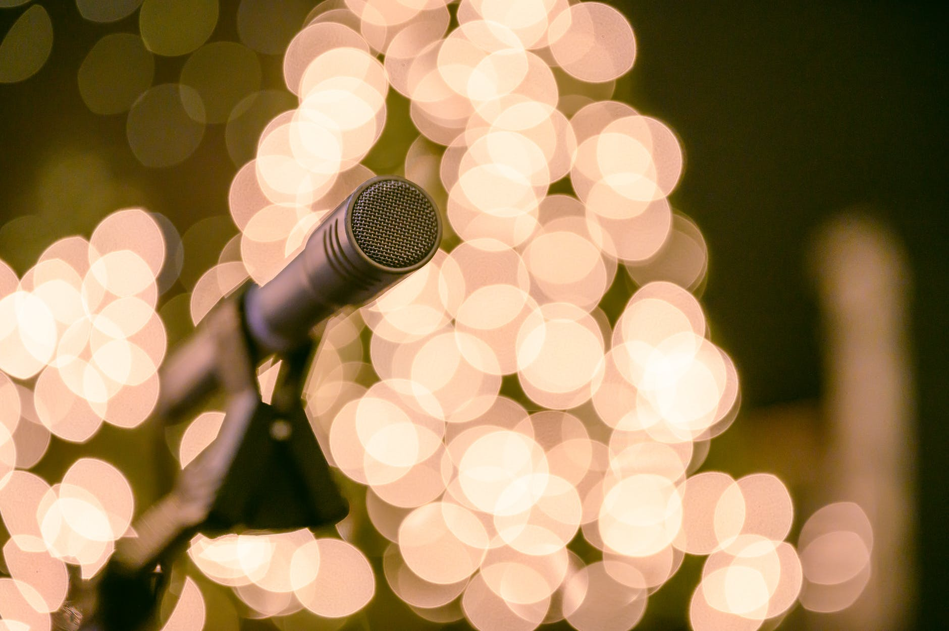 selective focus photo of microphone