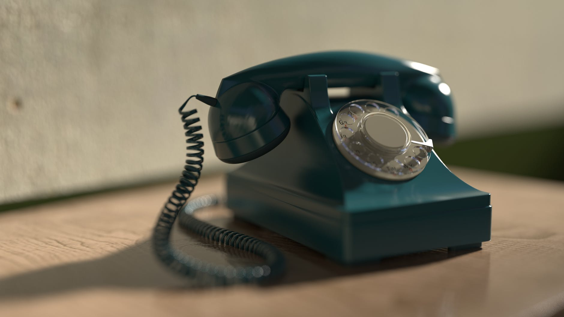green telephone